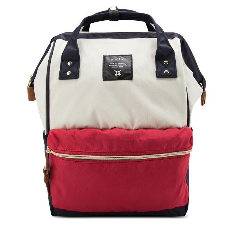【全球购】日本anello大号双肩包AT-B0193A红白拼色保税区直发