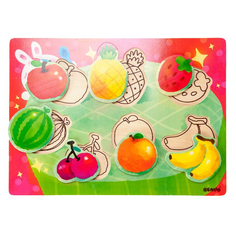 字母--系列拼图-水果
