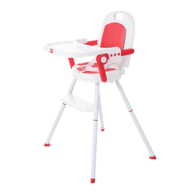 呵宝三合一便携儿童餐椅 鹤顶红