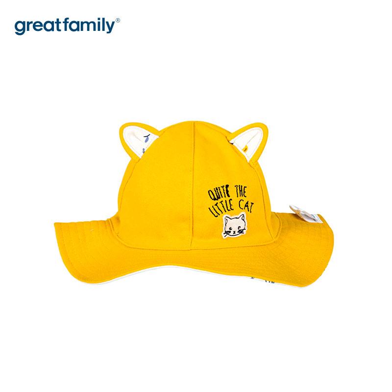 歌瑞家A类女童盆帽黄色女童帽
