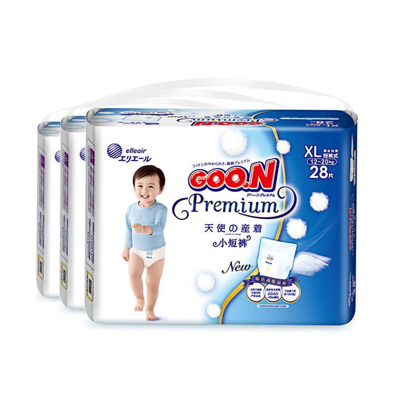 短裤式纸尿裤天使系列XL(12-20kg)三包组合装