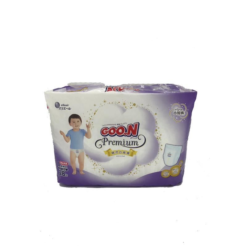GOO.N(大王)婴儿用短裤型纸尿裤精灵系列28片 L  1*6