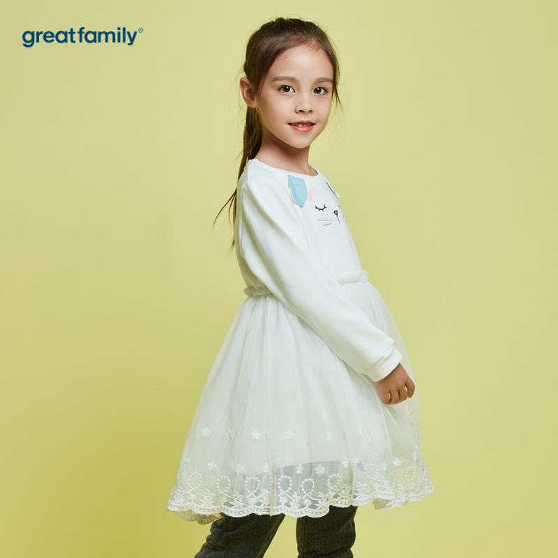 歌瑞家A类女童白连衣裙