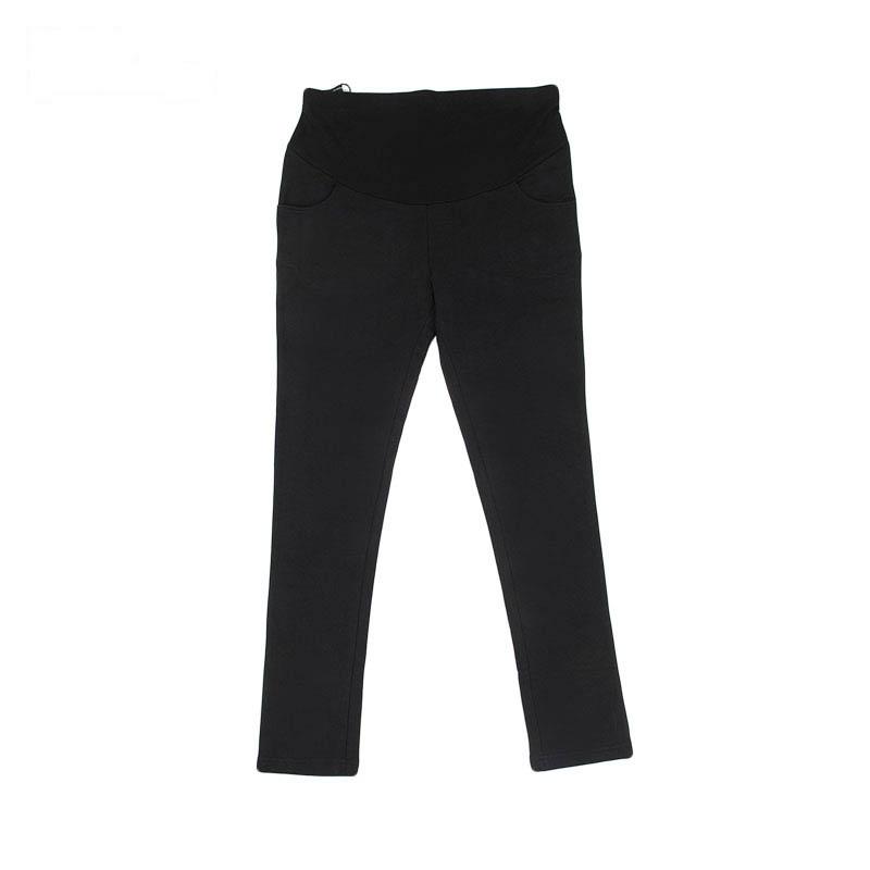 针织合体裤黑