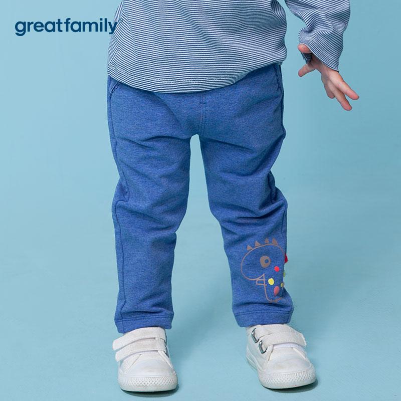 歌瑞家A类梦想王国蓝女卫裤针织长裤