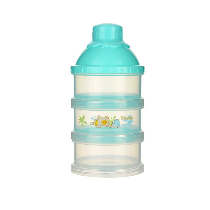 日康初生型三层奶粉盒婴儿奶粉盒储存奶粉罐颜色随机