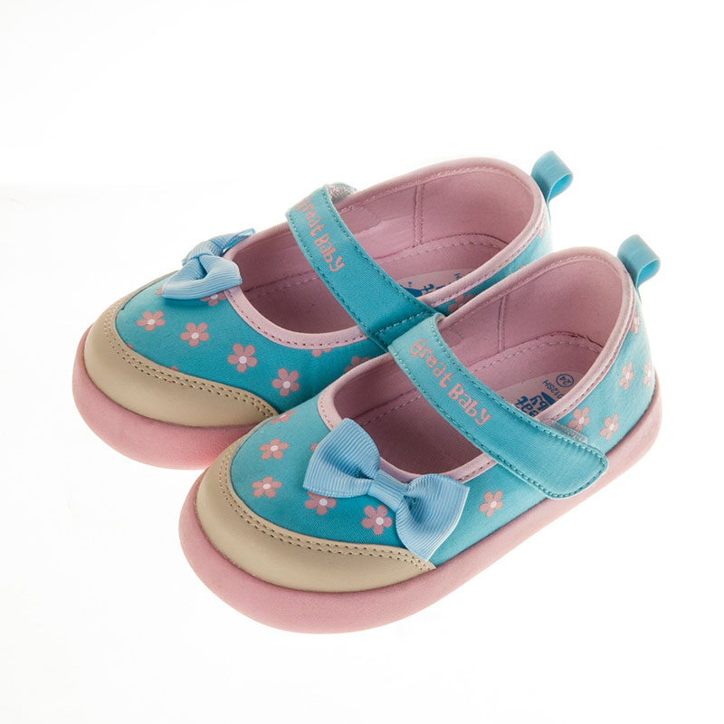 歌瑞贝儿可爱公主婴儿鞋蓝14.5码GB151-012SH