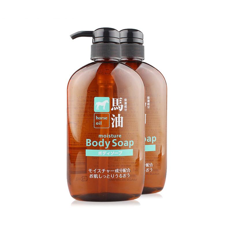 【全球购】熊野油脂马油沐浴液600ml/瓶*2