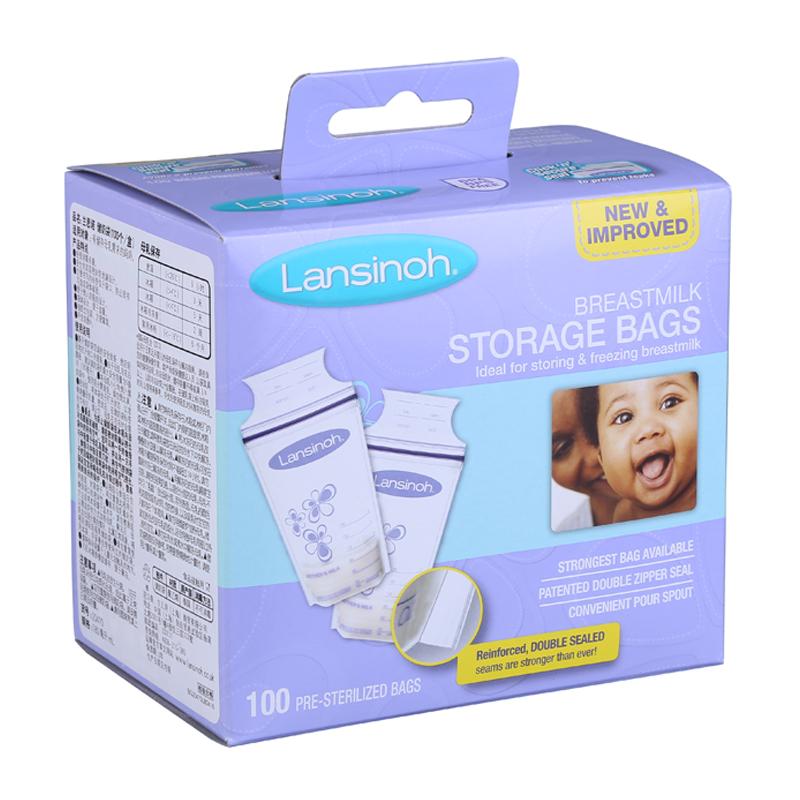 兰思诺Lansinoh-泰国进口储奶袋100个/盒