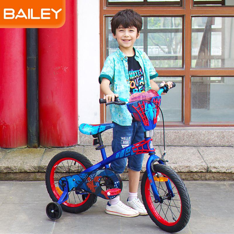贝乐童车迪士尼系列蜘蛛侠经典蓝自行车16寸 蓝色