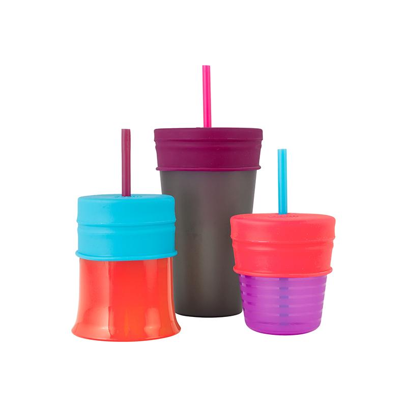 Boon啵儿幼儿学饮杯+鸭嘴套嘴杯盖(含一个杯子三个套嘴)女孩(12月以上)1套/个