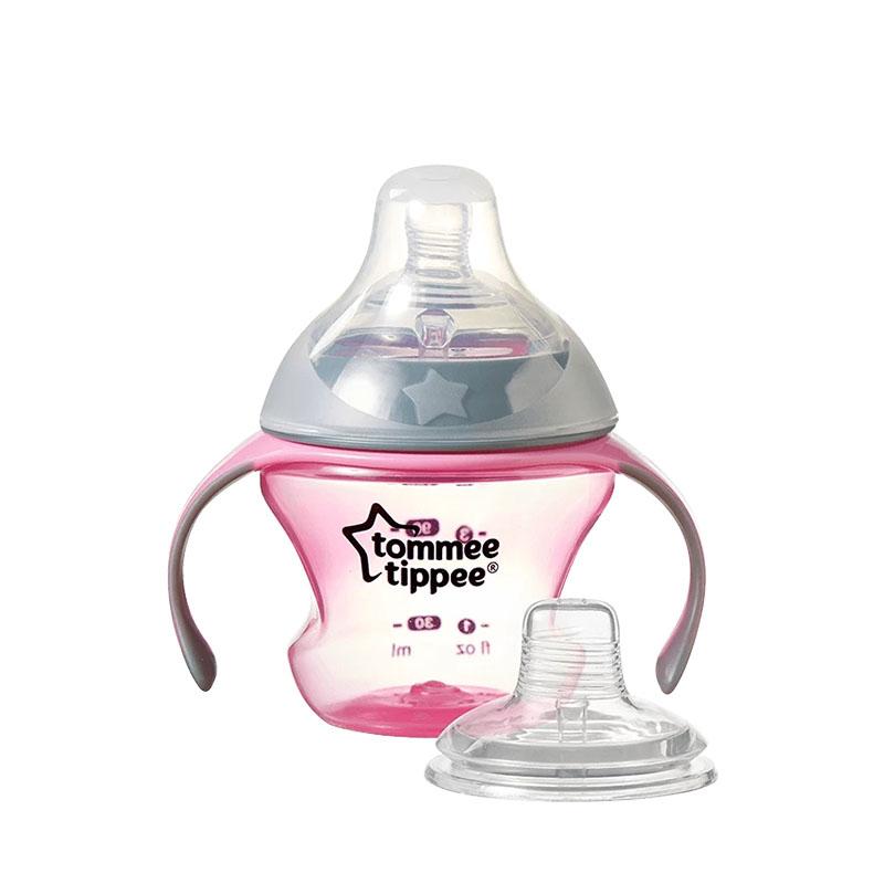 汤美星(TommeeTippee)初级奶嘴杯粉色150ml