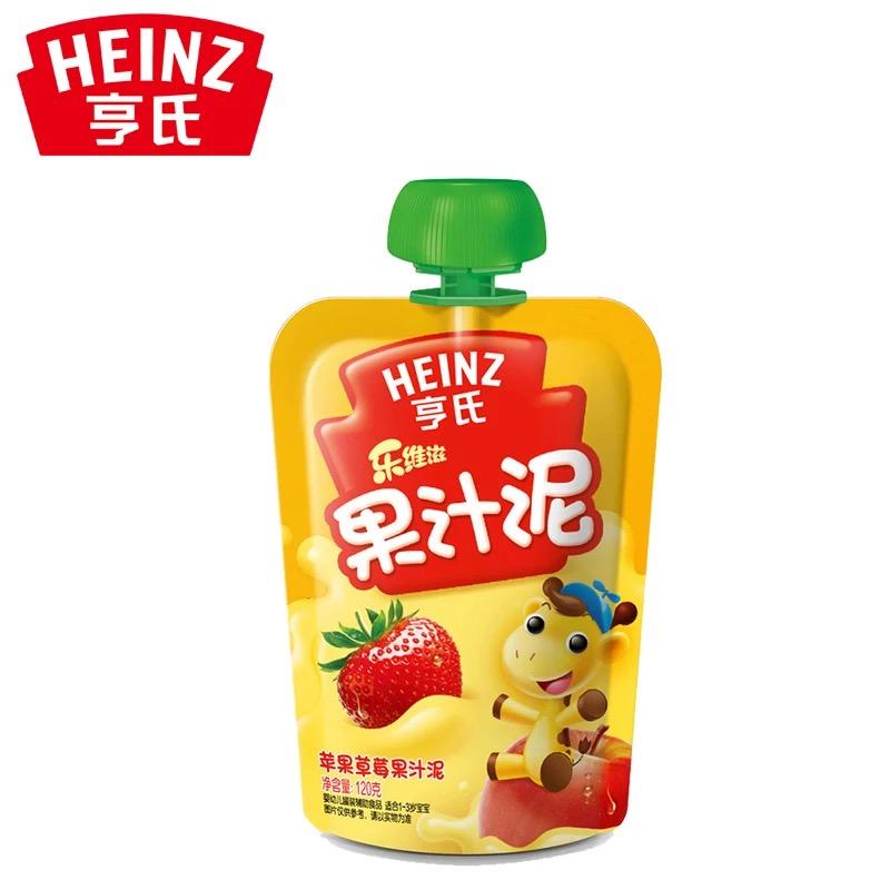 亨氏Heinz乐维滋果汁泥苹果草莓120g富含维生素C