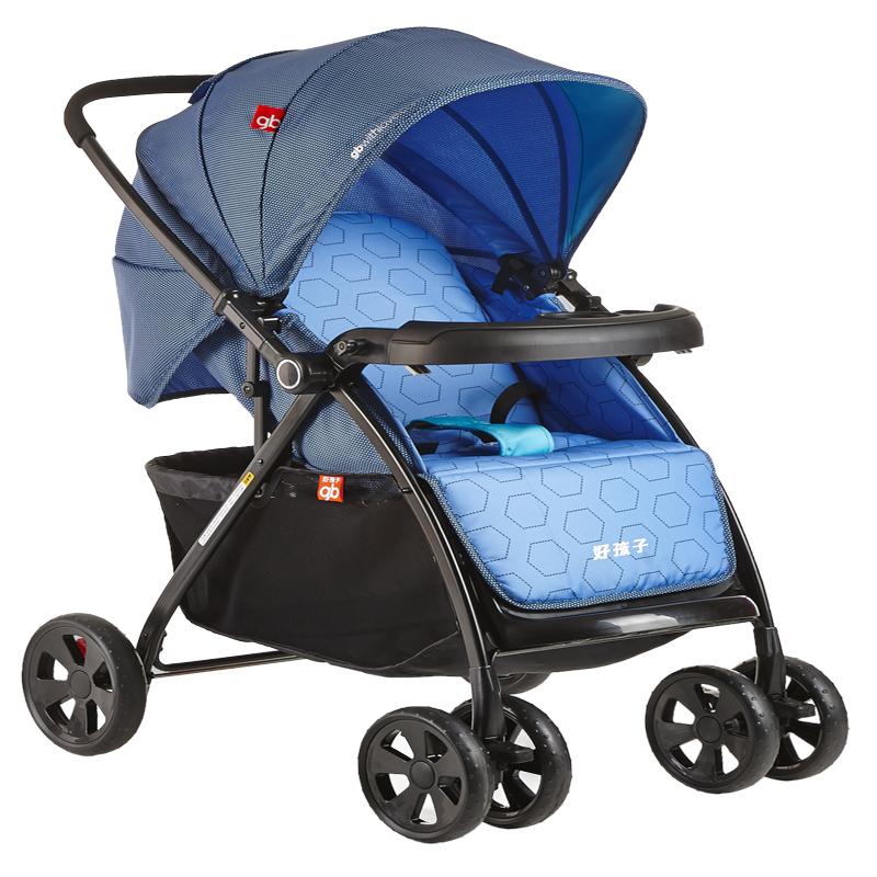 好孩子(gb)婴儿推车轻便折叠可躺可坐全篷双向避震手推车C300-N303BB