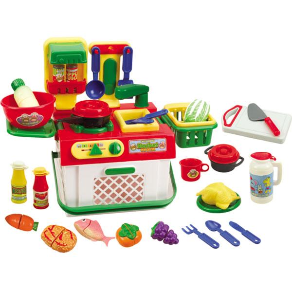 星月2合1橱柜组合过家家玩具情景玩具