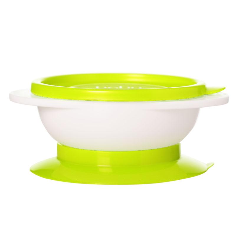 乐儿宝BOBO防翻洒学食碗婴幼儿学食吸盘碗可微波