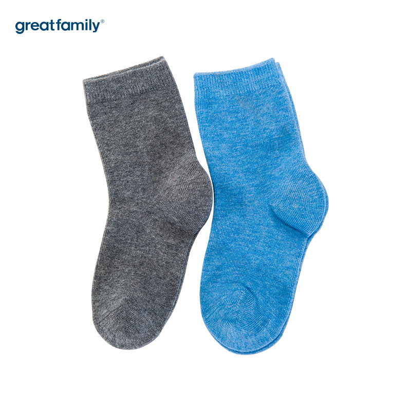 歌瑞家(Greatfamily)A类混色纯棉男童中袜