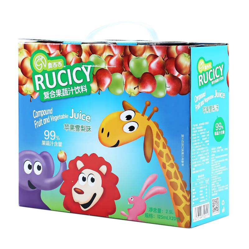 鹿西西--复合果蔬汁饮料(苹果雪梨味)礼盒装125*4ml*5
