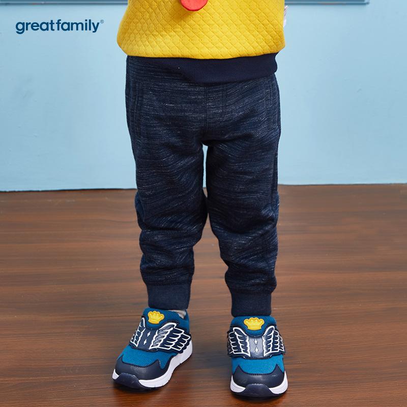 歌瑞家(Greatfamily)A类男宝宝蓝色纯棉卫裤