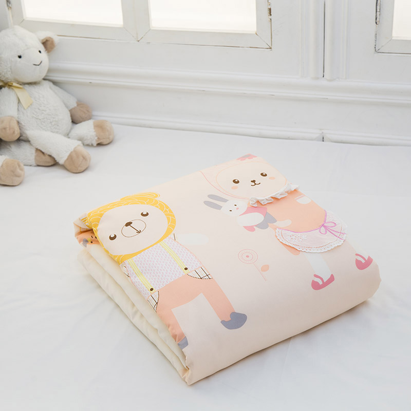 【本月爆品】歌瑞家A类粉色女宝宝二合一子母被混码