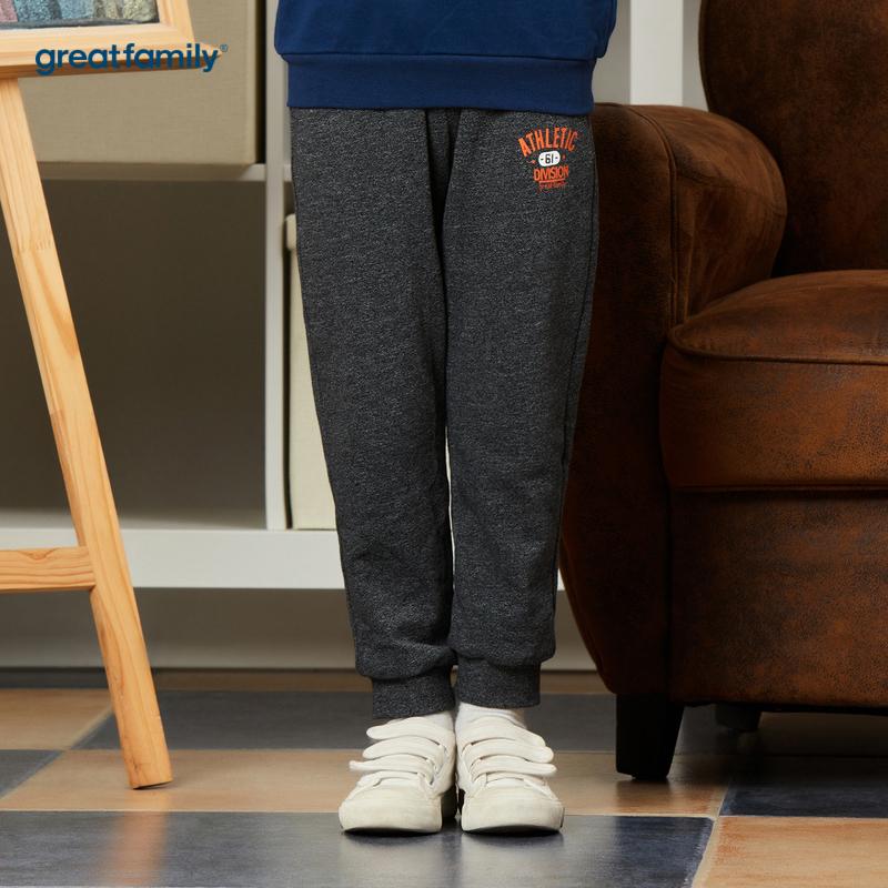 歌瑞家A类经典校园灰色男针织长裤