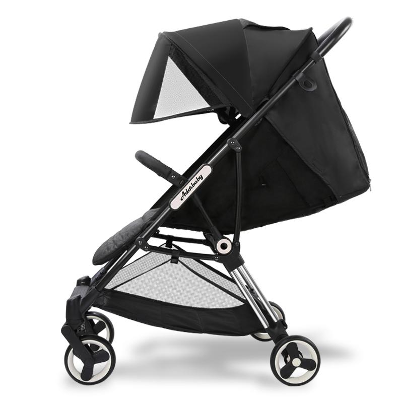 Pouch儿童折叠三轮车骑行滑行二合一免充气EVA轮轻便减震安全骑行 A33 黑色