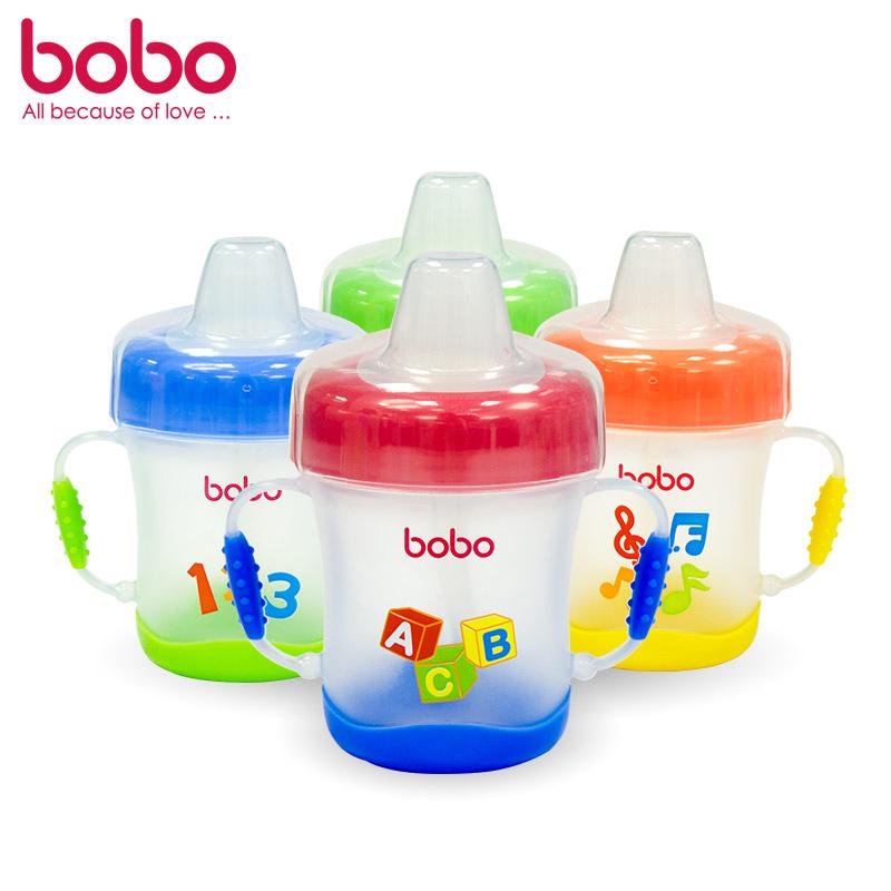 乐儿宝BOBO安全软嘴杯170ML颜色随机