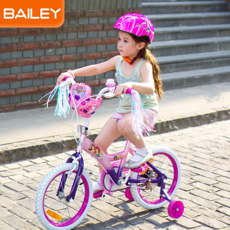 贝乐BAILEY-迪士尼公主系列音乐盒儿童自行车14寸