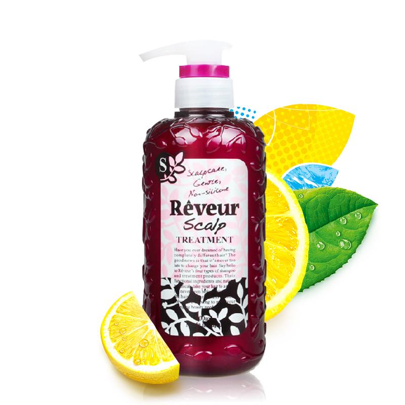 【乐海淘】日本Reveur无硅护发素 头皮护理 粉瓶 500ml 保税区直发