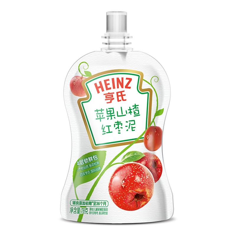 亨氏苹果山楂红枣泥78g/袋