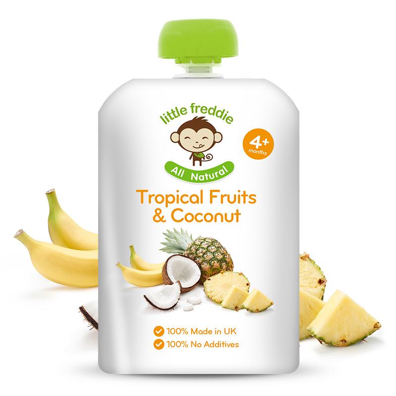 小皮--椰子菠萝香蕉苹果泥 90g