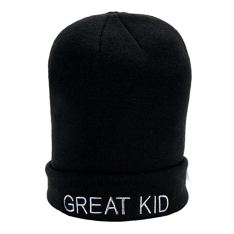 歌瑞家greatfamily男童黑色针织帽