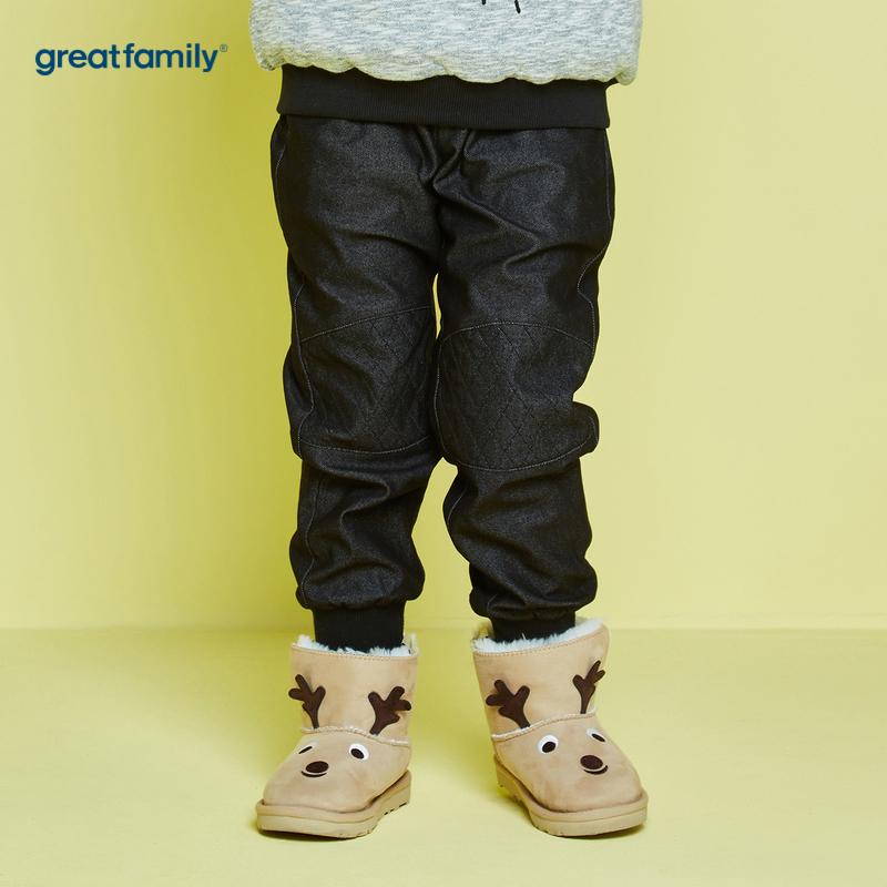 歌瑞家A类男童黑针织长裤