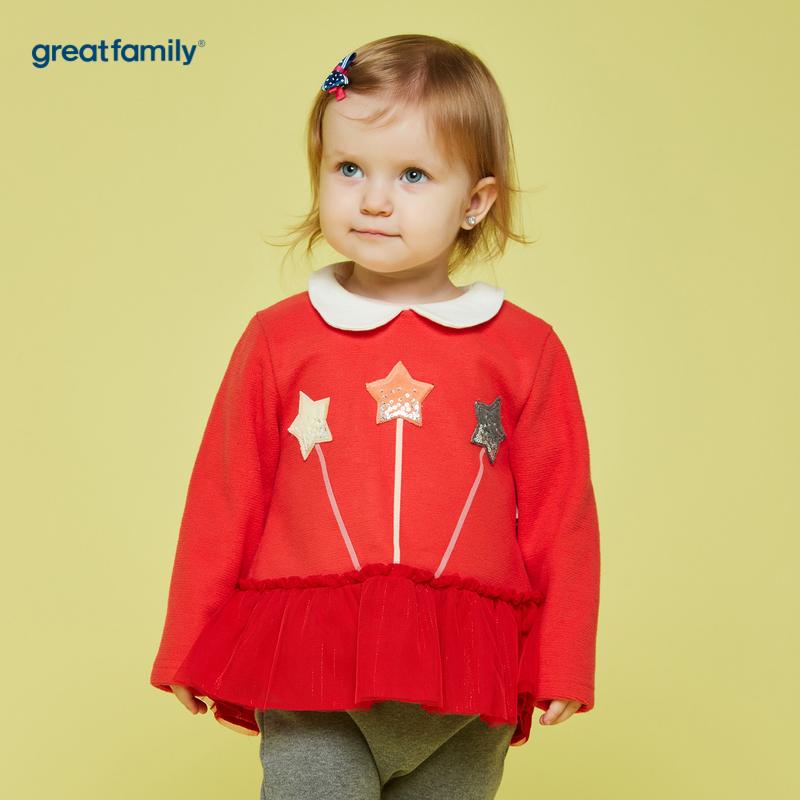 歌瑞家A类梦想王国红女娃娃领套头衫