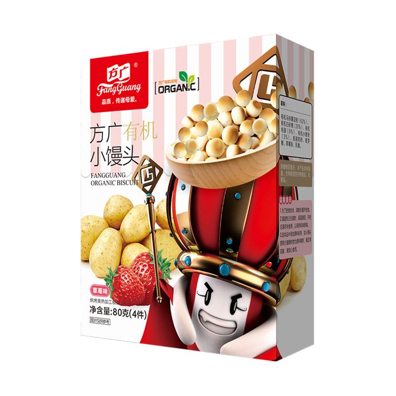 方广有机小馒头(草莓味)92g/盒