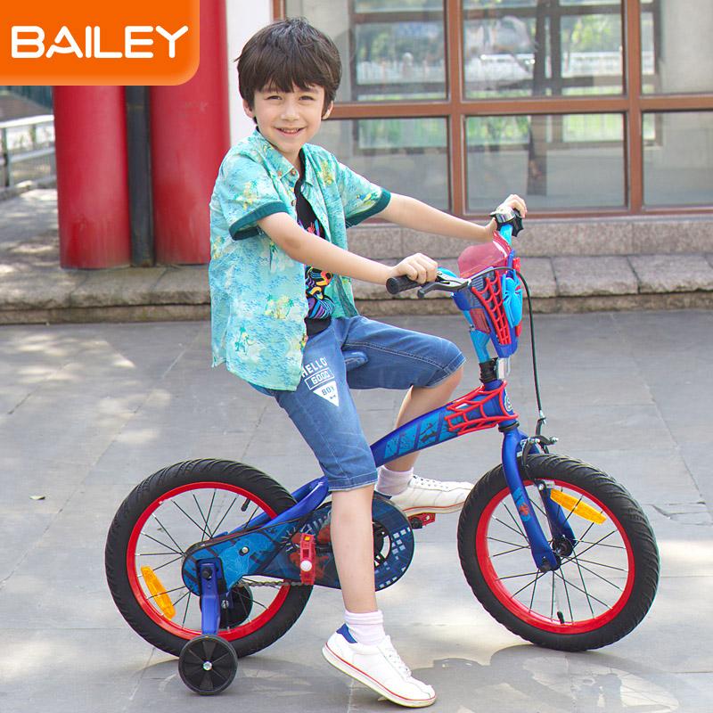 贝乐童车迪士尼系列蜘蛛侠经典蓝自行车12寸 蓝色