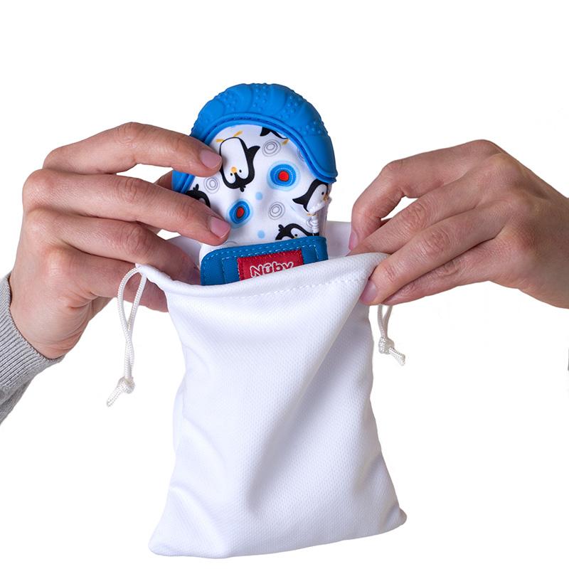 美国Nuby可爱手套牙胶(蓝)