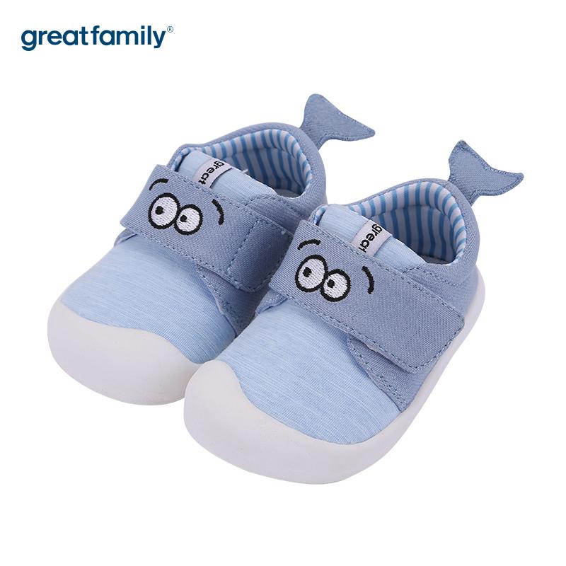 歌瑞家(greatfamily)男婴可爱动物宝宝鞋GBS3-008SH蓝12.5CM双