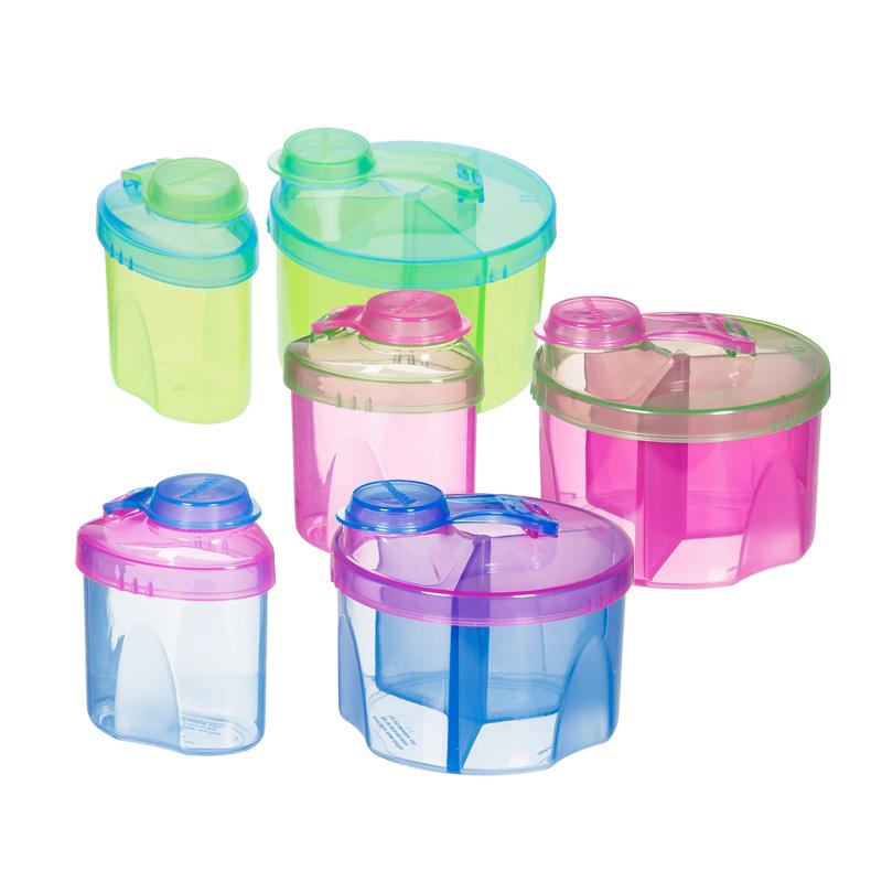 满趣健奶粉分装盒组合装婴儿奶粉盒外出便携奶粉格密封储存颜色随机MK80103