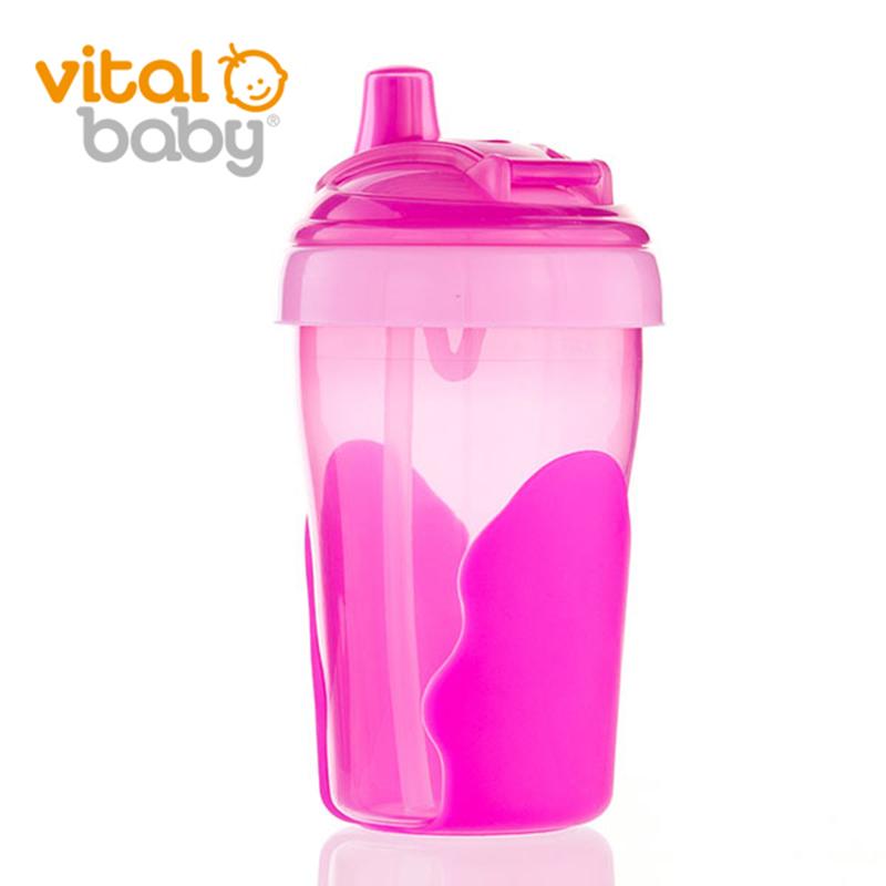 韦特儿Vital四阶段婴儿吸管水杯280ml安全PP材质不含双酚A