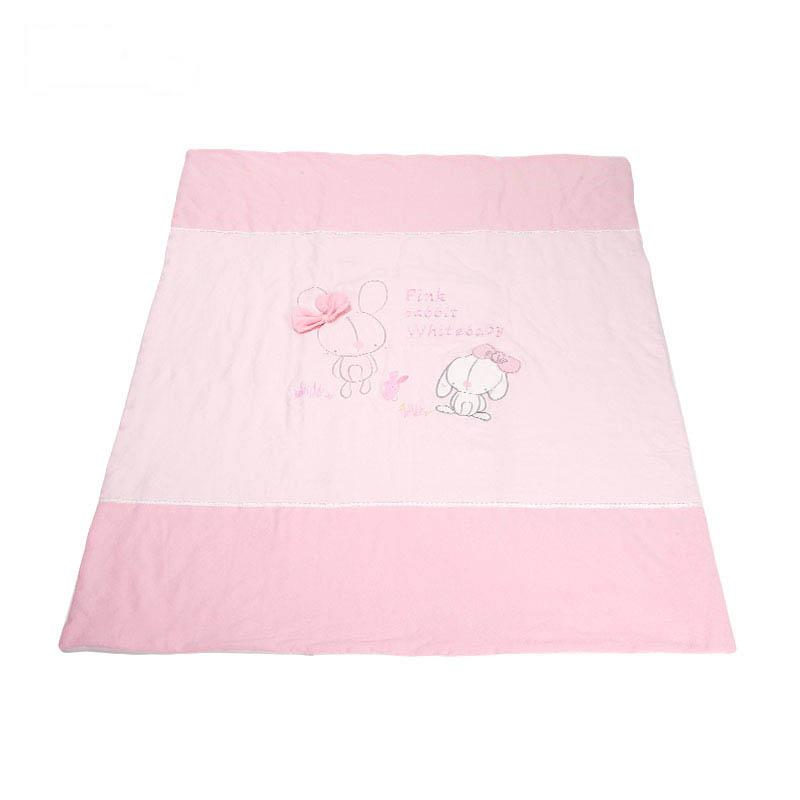 歌瑞家针织被子粉色小兔蓝色110*140cm