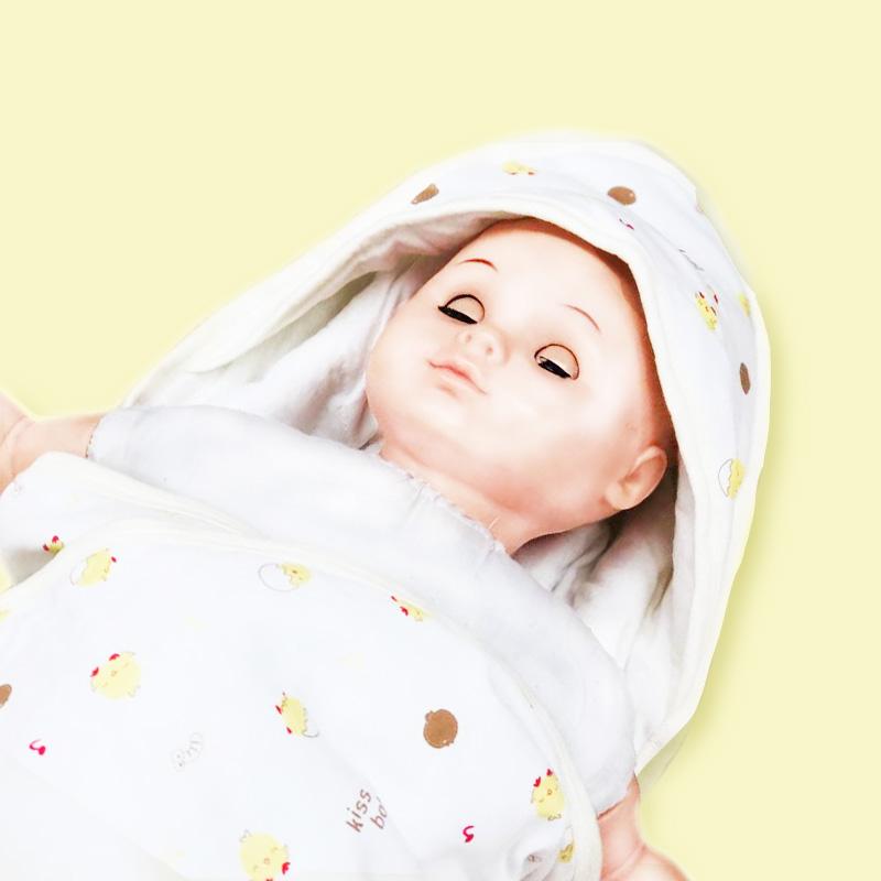 歌瑞贝儿夹棉抱被-蛋壳鸡90*90cm花色