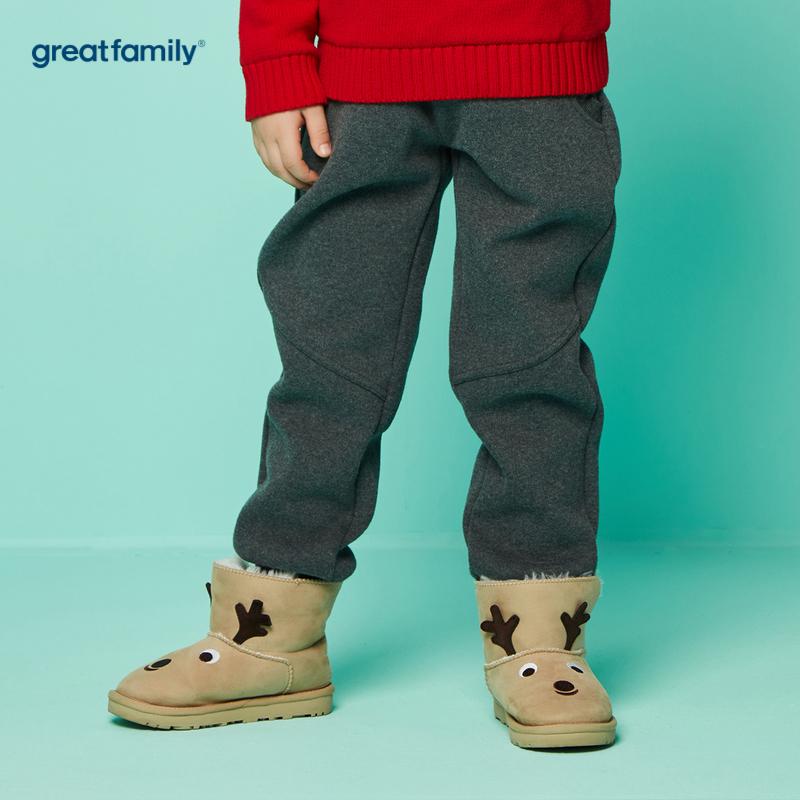 歌瑞家A类男童灰针织长裤
