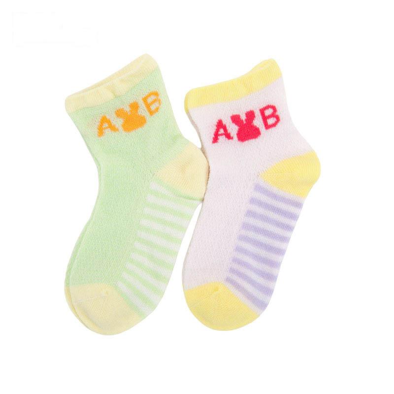 歌瑞贝儿女童提花袜(2双装)