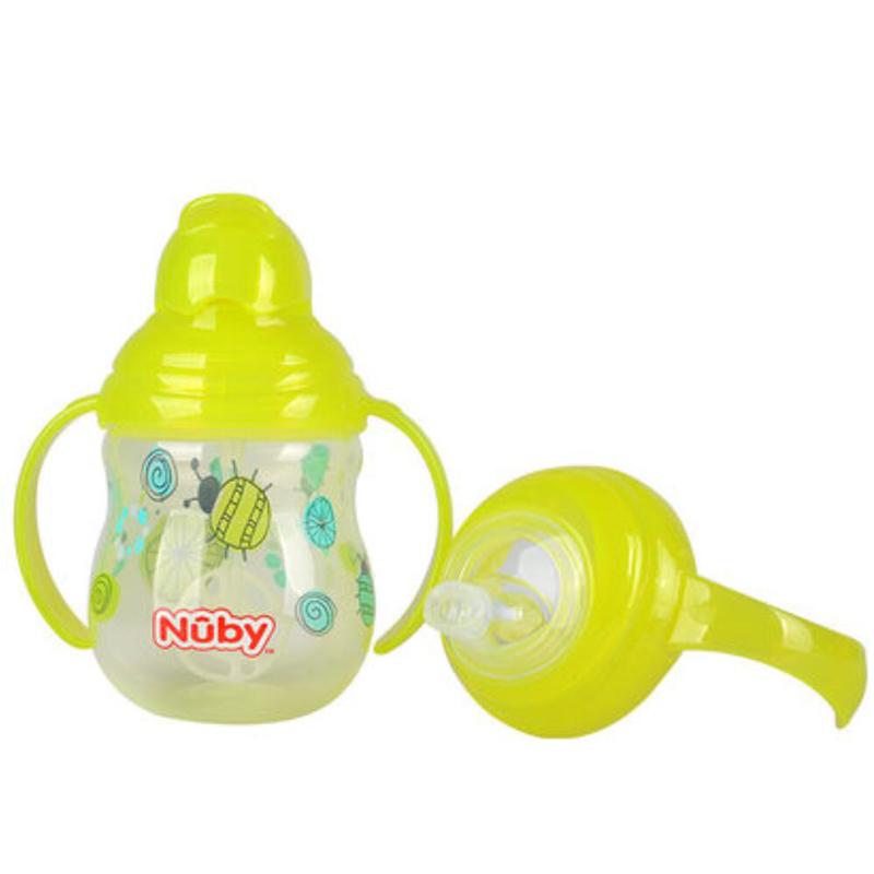努比nuby咔嗒双耳360弹跳吸管杯附鸭嘴替换头270ml