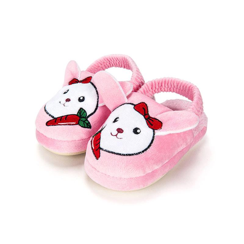 歌瑞家greatfamily女婴小兔子拖鞋粉色