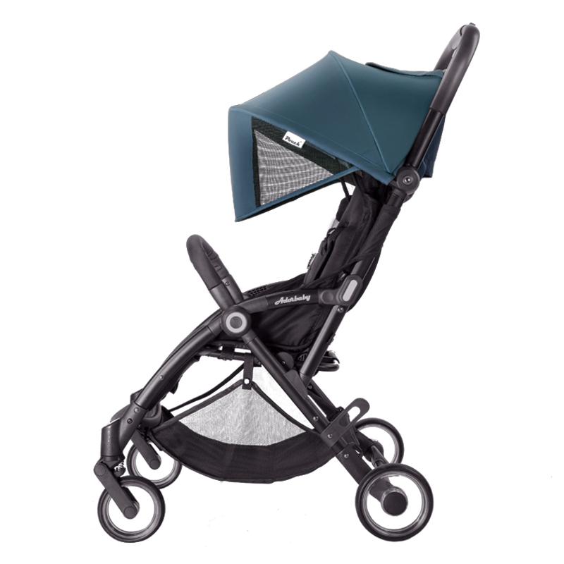 Pouch婴儿推车超轻便可坐可躺便携式伞车折叠婴儿车儿童手推车 A32 藏青色