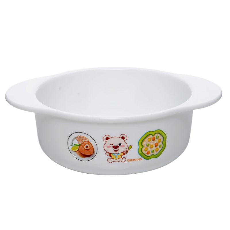 日康微波炉双耳碗无毒耐高温婴儿宝宝碗餐具正品