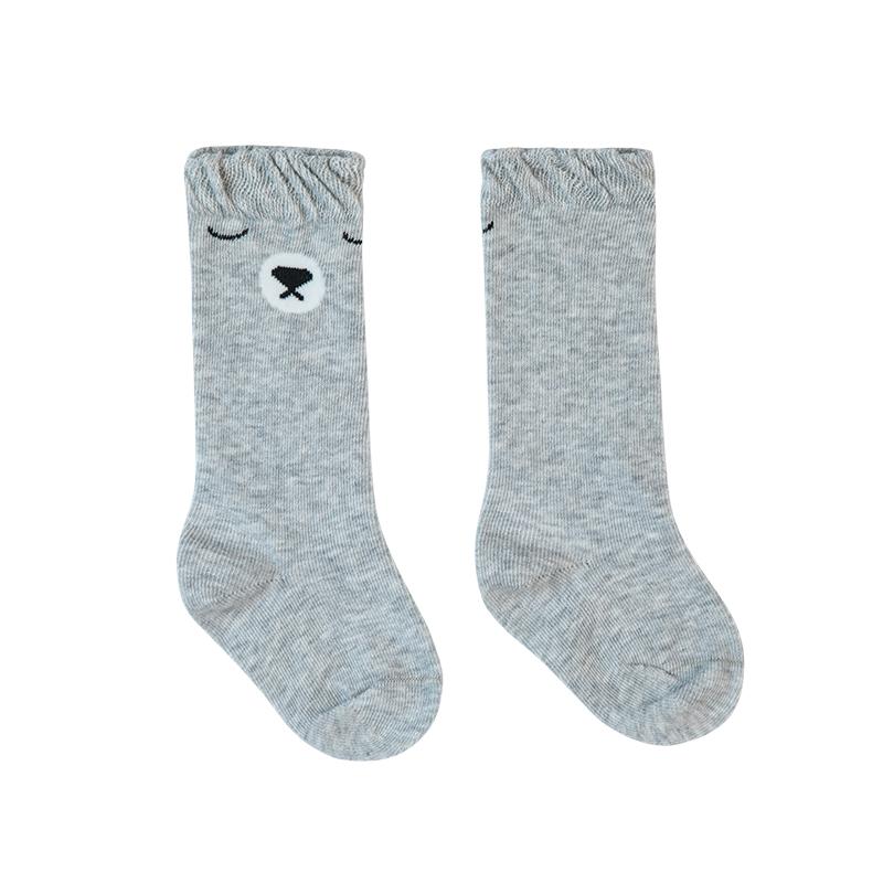 歌瑞家A类男童灰色长筒针织袜