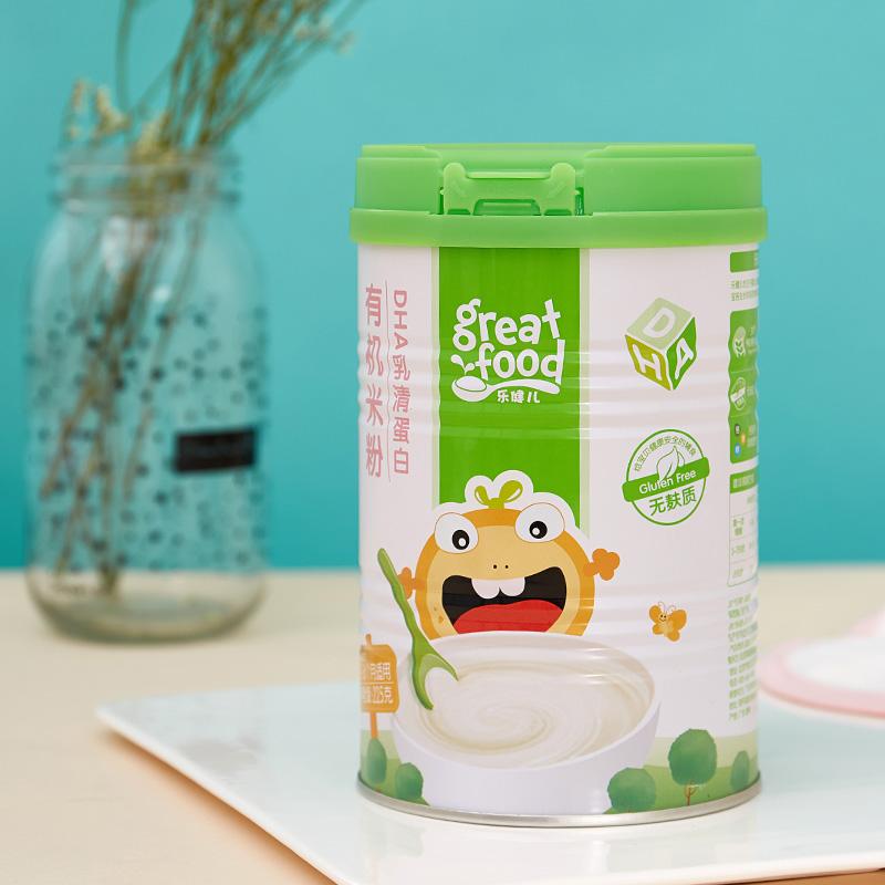 乐健儿--DHA乳清蛋白有机米粉(6-36月)225g/罐